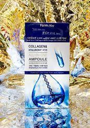 Ампульная сыворотка FARM STAY Collagen & Hyaluronic Acid All-In-One Ampoule