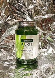 Многофункциональная сыворотка с алоэ farm stay aloe all in one ampoule