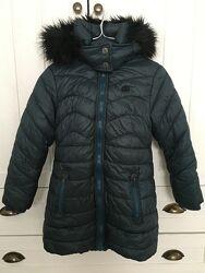 Теплое пальто Next с капюшоном