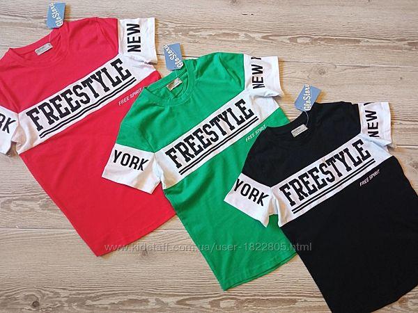 Модная детская футболка 100 хлопок  венгрия glo-story 134-164