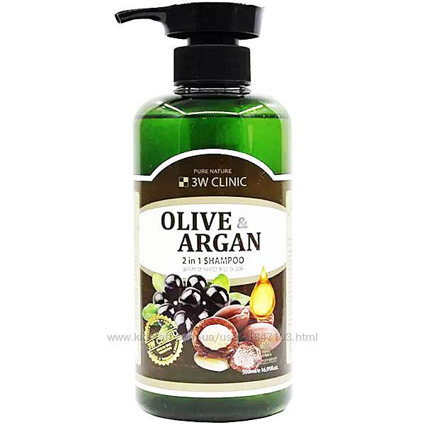 Шампунь для повреждённых волос с маслами арганы и оливы 500 мл