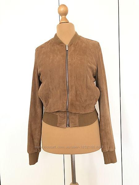 Бомбер куртка кожа