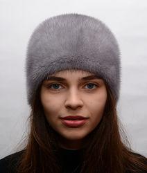 Женская норковая шапка кубанка-бабочка041