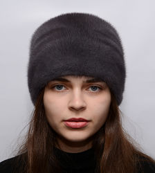 Женская норковая шапка кубанка Пион 065