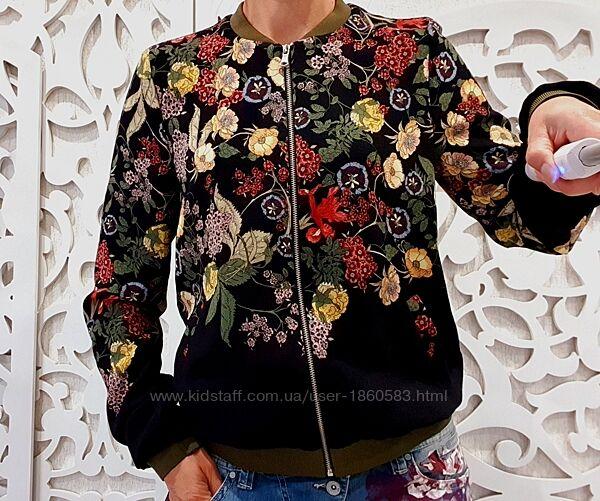 Крутой бомбер от ZARA новая коллекция trf шикарный яркий куртка ветровка S