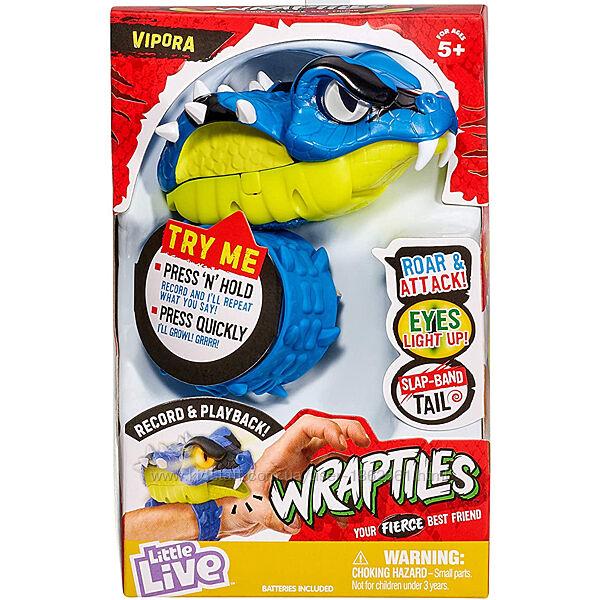Интерактивный браслет Little Live Wraptiles Wrapples - Vipora Змея Кобра