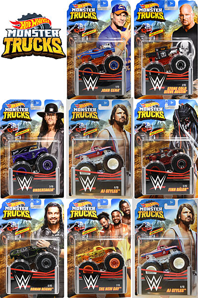 Внедорожники Hot Wheels Monster Trucks - 2019 WWE 164, Монстр траки