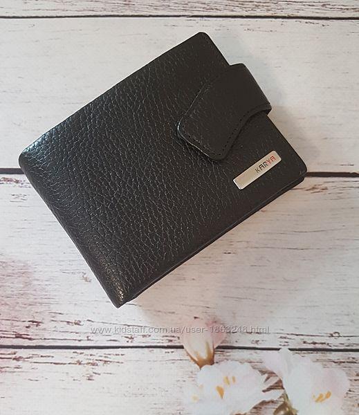 Черный кошелёк кожа