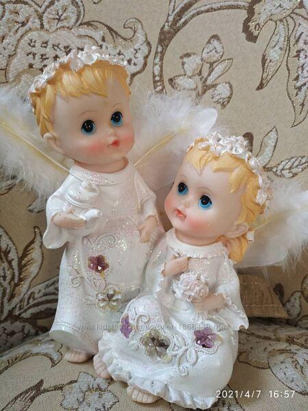 Статуэтка, светильник, ночник Ангелочки, ангелы, 2 ангела, янголята