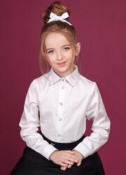 Хлопковая блуза на девочку р.158-164 ТМ Зиронька