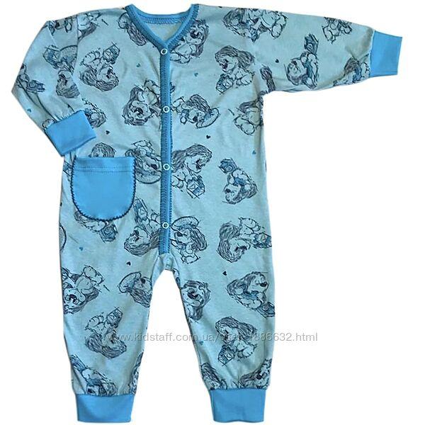 Пижама-человечек  р.24-28 6-36мес. 03.11м