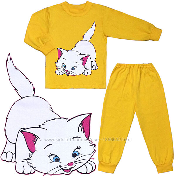 Пижама демисезонная Китти р.26-36 9мес. -9 лет, 80-128 см 03.12.24