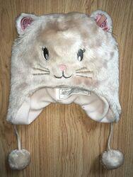 Меховая зимняя шапка с ушками котик LC Waikiki