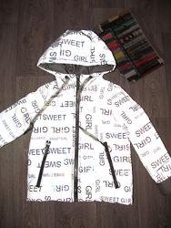 Светоотражающая куртка для девочки. Демисезонная. 128- 164р.