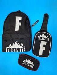 Рюкзак школьный, сумка через плечо и пенал в школьном наборе