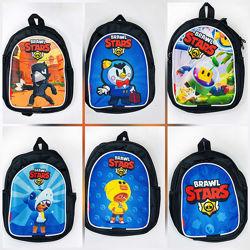 Мини рюкзачок для тренировки, прогулки для мальчика 5-10 лет Бравл Старс