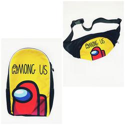 Амонг Ас шкільний рюкзак та бананка через плече від виробника опт/роз
