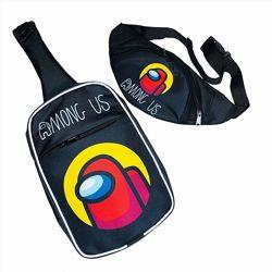 Набор сумка через плечо и бананка с Among Us Амонг Ас от Crazy Bags