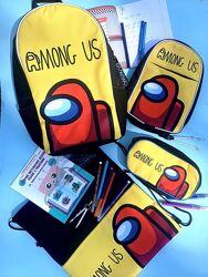 Амонг Ас школьный набор рюкзак, сумка через плечо, сумка для сменки, пенал
