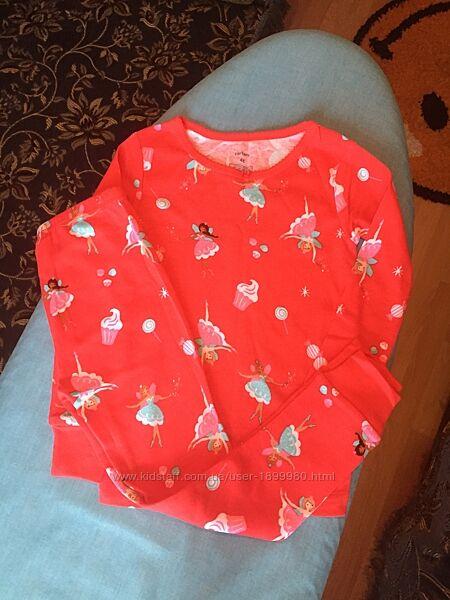 Пижамы картерс на 4 года carters осталась красная