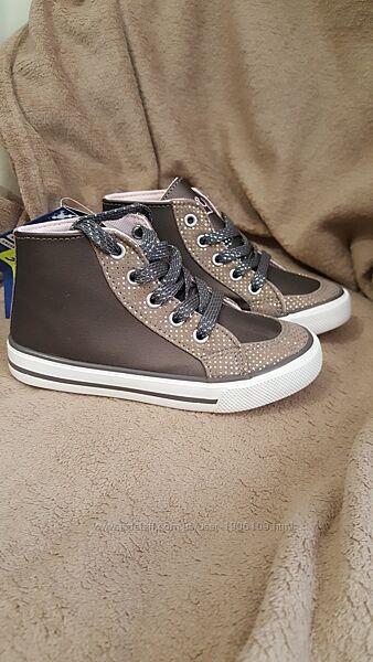 Стильные весенние ботинки высокие кеды lupilu германия