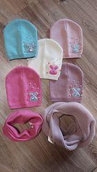 Распродажа шапочки для девочек 3-8 лет