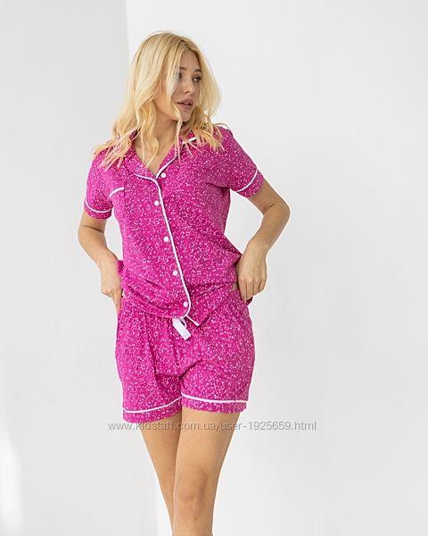 Комплект с шортами и рубашкой на пуговицах S M L XL Турция