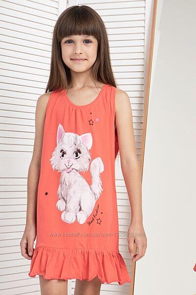Сорочка ночнушка платье для дома 6-7 8-9 10-11 12-13лет Nicoletta Турция