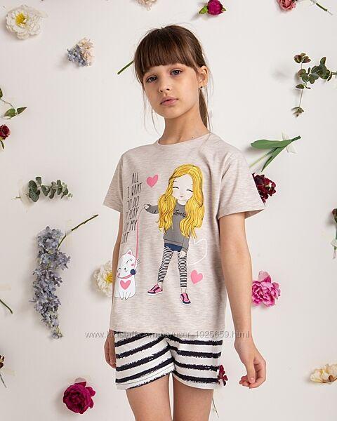 Комплект футболка с шортами 8-9 10-11 12-13 14-15 Турция Nicoletta