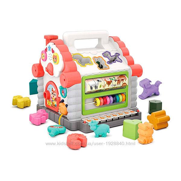 Детская музыкальная игрушка сортер пианино счеты Hola Toys Веселый домик