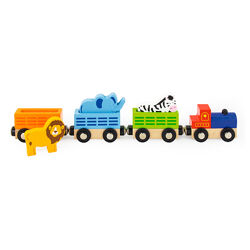 Детский деревянный набор для железной дороги Viga Toys Поезд-зоопарк