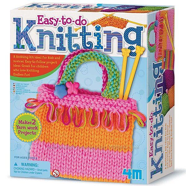 Детский набор для творчества 4M Мой первый набор для вязания спицами