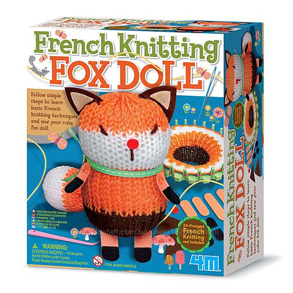 Детский набор для творчества 4M Французское вязание Лисичка своими руками
