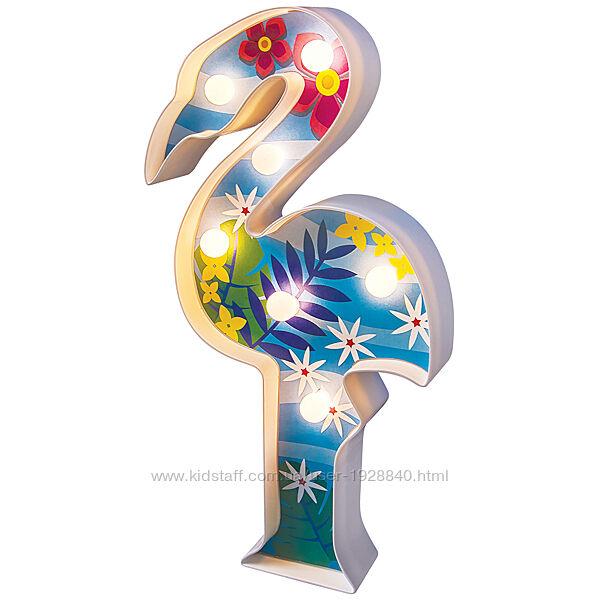 Детский набор для творчества и рукоделия светильник 4M Подсветка Фламинго