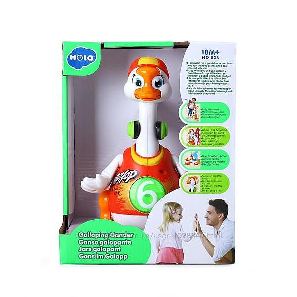 Интерактивная музыкальная игрушка Hola Toys Танцующий гусь 828-red