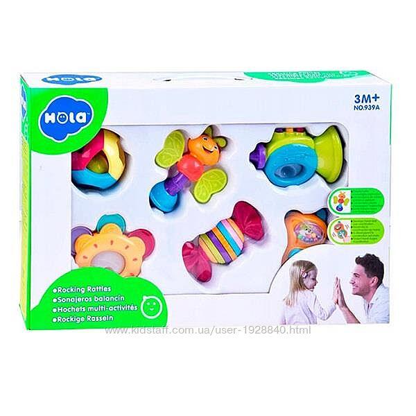 Детский набор погремушек Hola Toys, 6 шт.