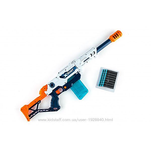Детская игрушечная винтовка бластер Zuru X-Shot Max Attack с мягкими пулями