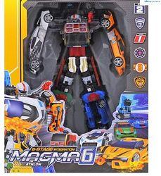Робот-Трансформер 6 в 1. TOBOT Magma 6 Магма 6. Большой, 45см.