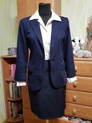 Пиджак, Рубашка PRADA, Юбка, можно всё по отдельности 42/44.
