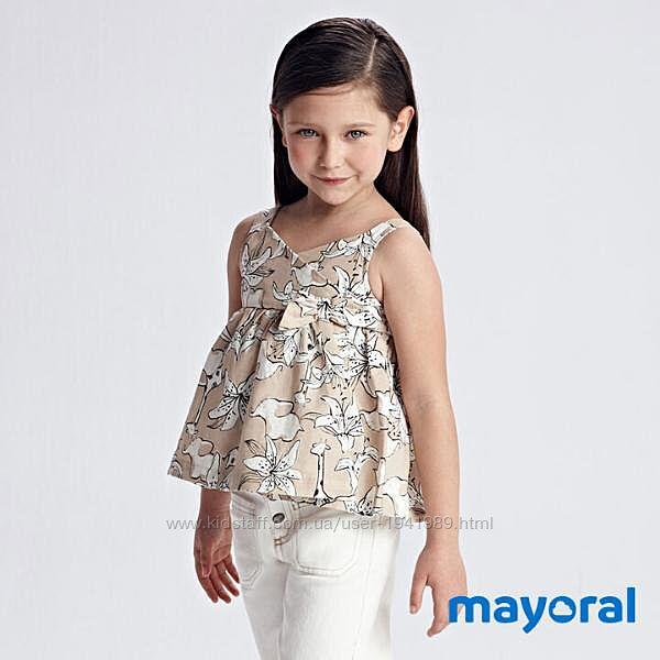 Легкий стильный топ футболка майка блуза Mayoral 98, 104, 116, 122, 128 см