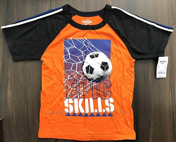 Футболка OshKosh футбол на рост 114-124