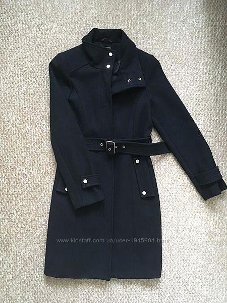 Шерстяное пальто reserved wool blend 50 шерсти