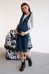 Сарафан джинсовый для беременных и кормящих мам