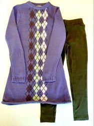 Костюм Туника с леггинсами Losan Creem girls 024-8002AB/124 Темно-фиолетовый