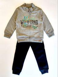 Костюм спортивный кофта , брюки Losan Kids boys 525-8605AC/66 Темно-серый