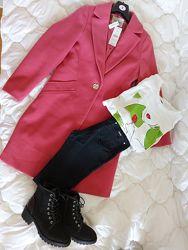 Женское деловое розовое пальто George Джорж, Англия, новое, подарок любимой