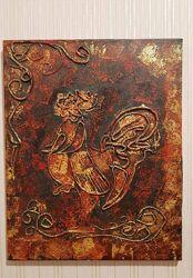 Картина Півень в техніці Пейп Арт, автор Андрій Ф. 8 років
