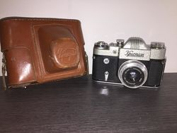 Фотоаппарат КРИСТАЛЛ 1962 г. СССР. Дарственная надпись