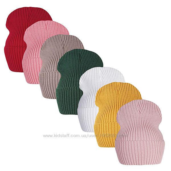 Вязаная весенняя шапка дакота малышам ог.46-52см