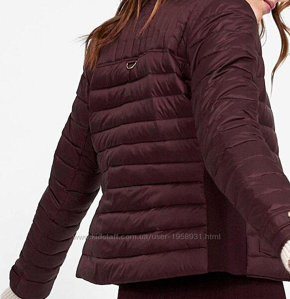 куртка Зара пуховик с капюшоном